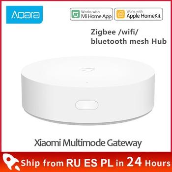 Xiaomi Smart Multifunctional Gateway 3 Bluetooth Zigbee WiFi Remote Control RGB Radio Home Security Device Support Apple Homekit - discount item  30% OFF Smart Electronics