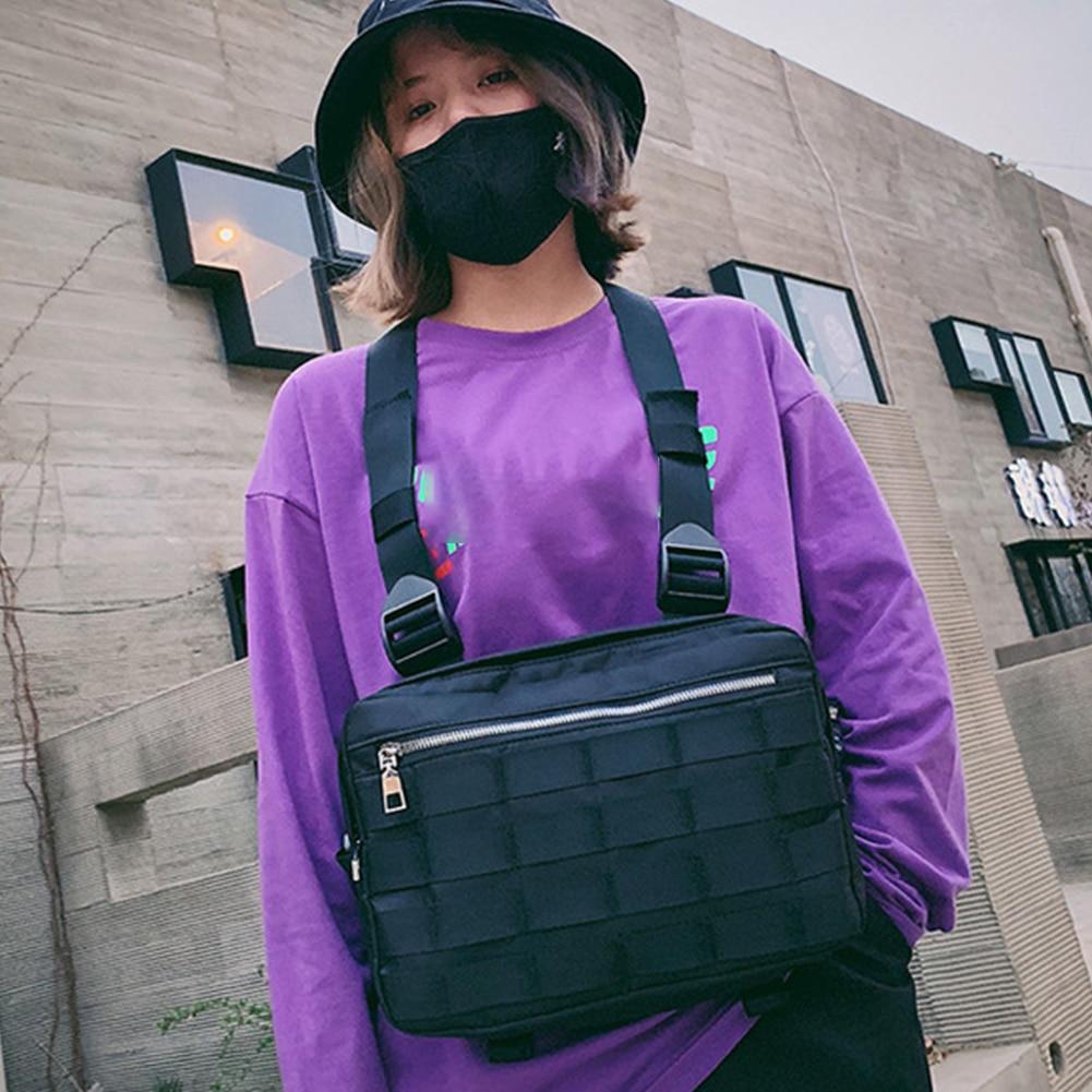 Streetwear Tactical Sports Harness Shoulder Waist Adjustable Straps Vest Pack Chest Bag Rig Fashion Nylon Stylish Hip Hop