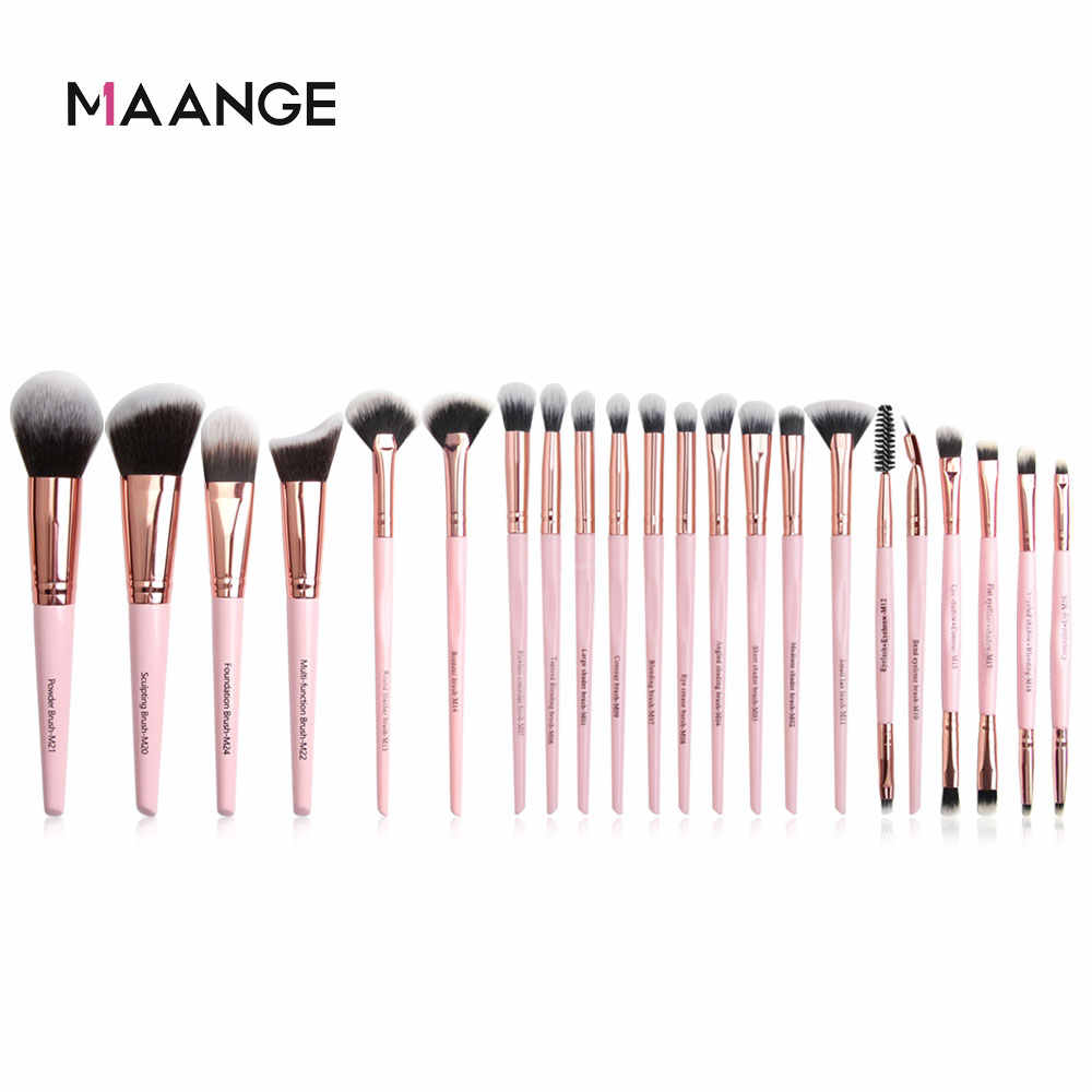 Maange Borstels Rose Gouden Make-Up Kwasten Set Professionele Beauty Make Up Borstel Natuurlijke Haar Foundation Powder Eye Blushes 6-22 Pcs