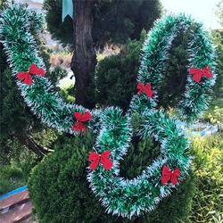New Year Christmas Decoration Bar Kitchen Tops Ribbon Garland Christmas Tree Ornaments Party Background wall decoration Supplies 5