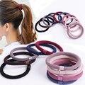 Модные базовые эластичные резинки для волос 10 шт./лот, повязка для волос для девочек, женские головные уборы, повязка на голову, заколка, прос...