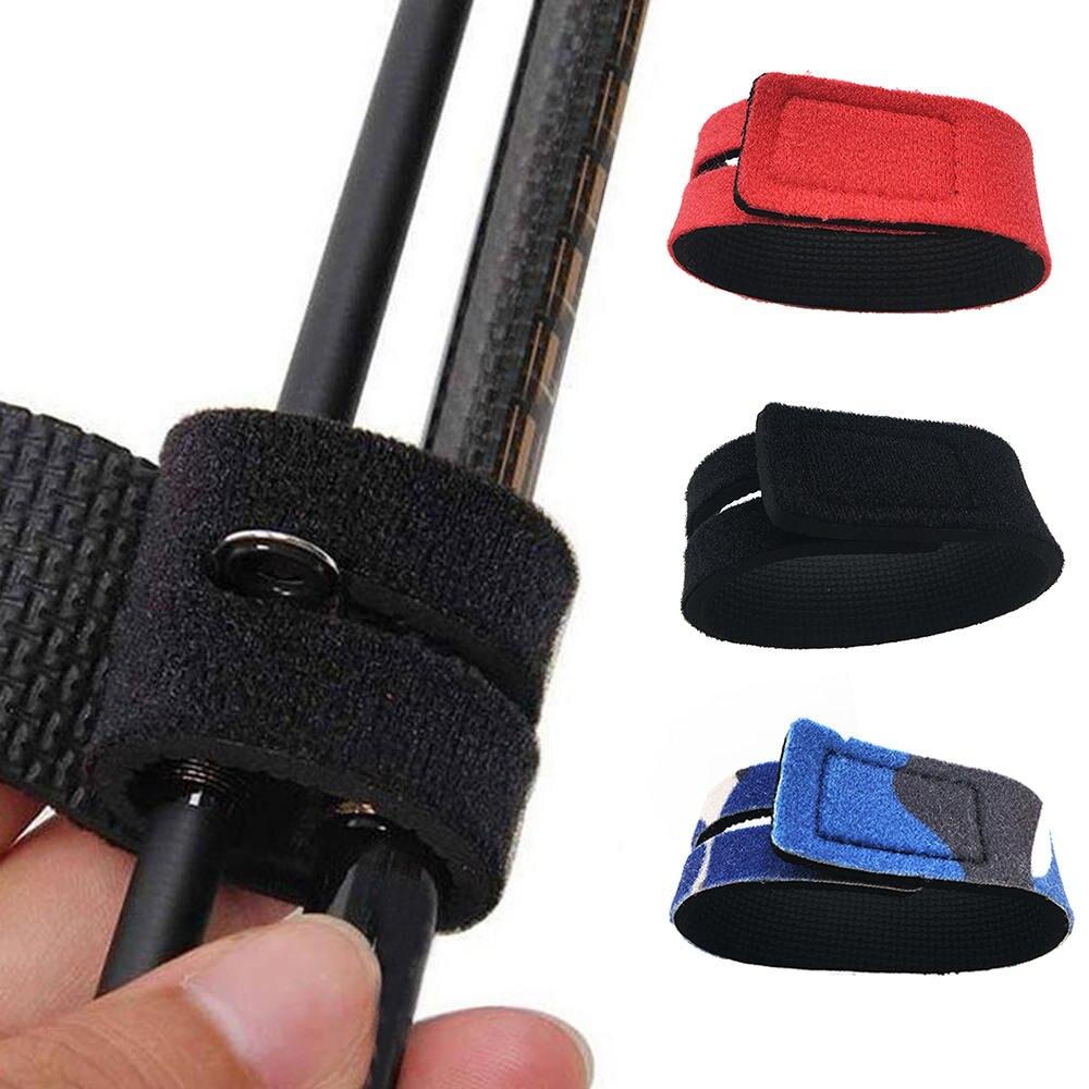 5Pcs Fishing Tools Rod Tie Strap Belt Tackle Elastic Wrap Band Pole Holder