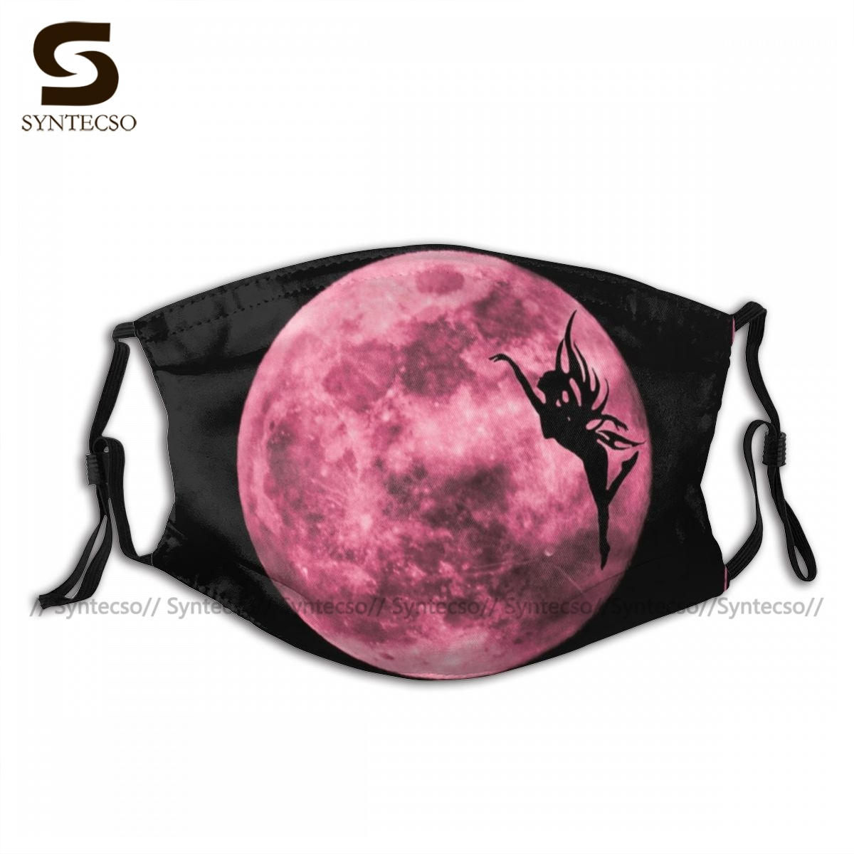Protective Adults Pink Fairy Moon Face Mouth Mask Fancy Cloth Luxury Bike Facial Mask With Filters