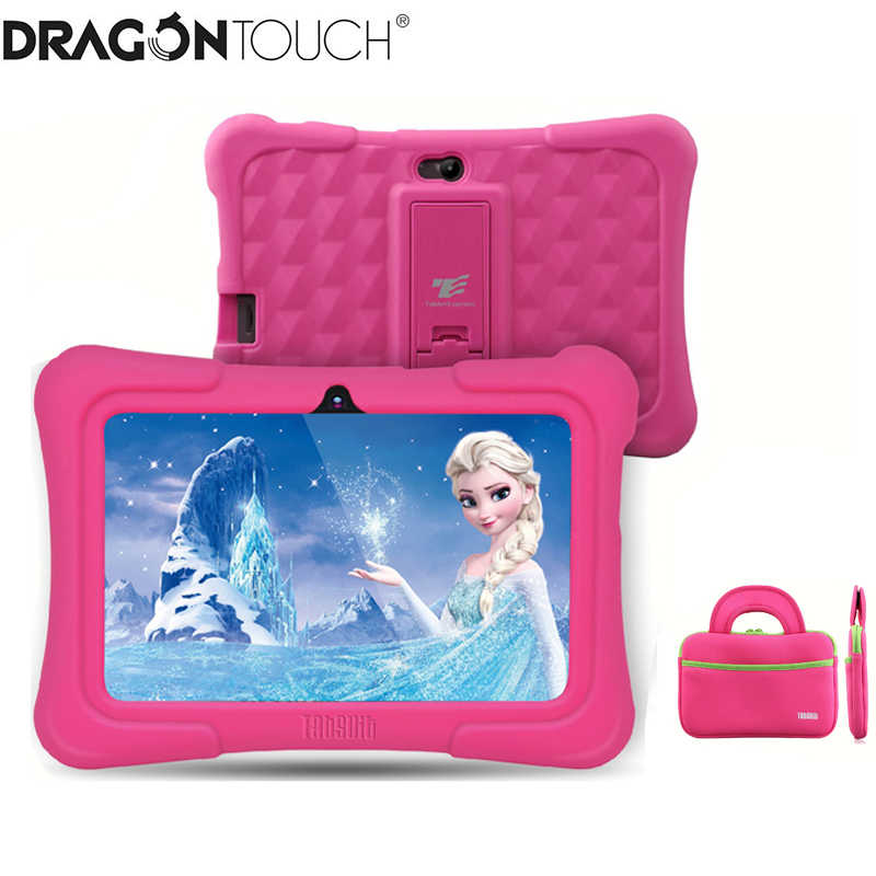 Dragon Touch Y88X Plus 7 Inch Kids Tablet Voor Kinderen 16 Gb Quad Core Android 8.1 + Tab Tas + screen Protector Cadeaus Voor Kind Kid