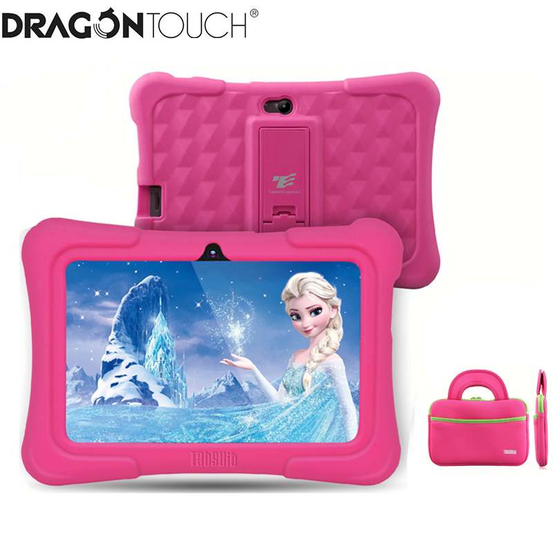 Дракон сенсорный Y88X плюс 7 дюймов детский планшет для детей с постоянной памятью 16Гб, четырехъядерным процессором, поддержкой Android 8,1 + Tab сум...