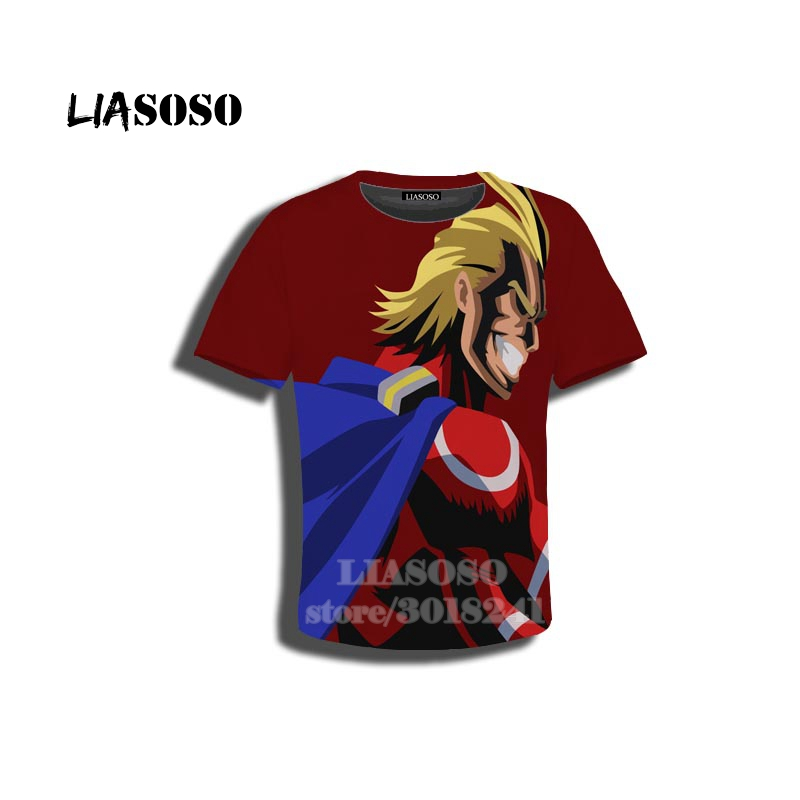De-ku Anime Bo-ku-no Hero Kids T Shirt 3D Printed Short Sleeve Fashion Casual Youth Tees Shirts for Girls Boys Children