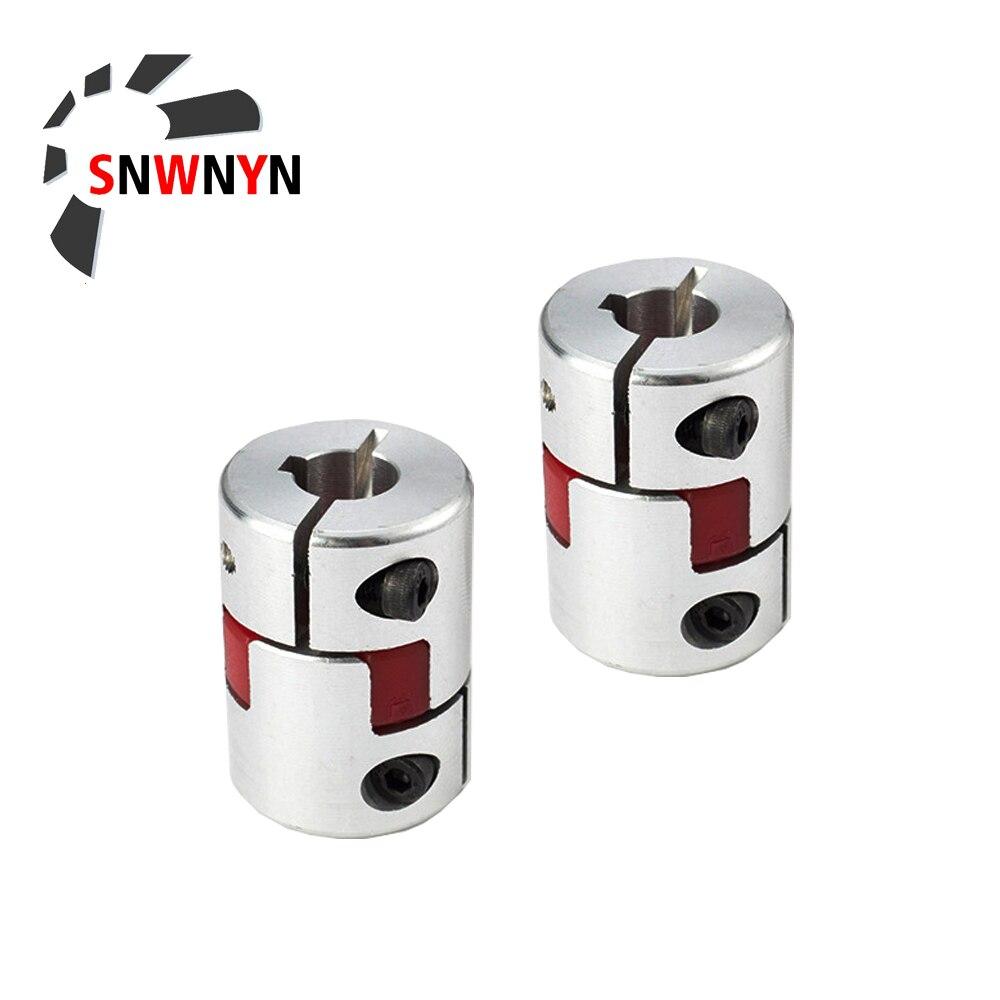 Coupler D30L42 Series Flexible Plum Clamp Coupling OD 30mm L 42mm Shaft CNC Jaw Shaft Coupling 6/8/10/12/14/16mm D30L42 Coupler