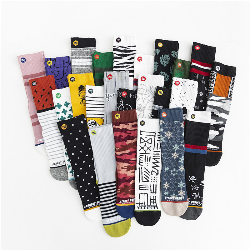 SP&CITY 3 Pairs Set Ins Personal Graffiti Patterned Funny Socks Women Casual Breathable Cotton Harajuku Socks For Female Trendy