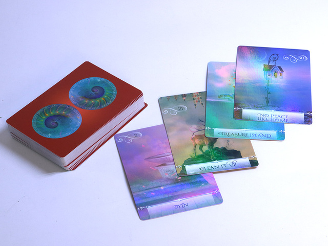 New arrival shine knowledge oracle cards deck, 52 cards, Holographic wisdom tarot cards divination fate for women board games 4