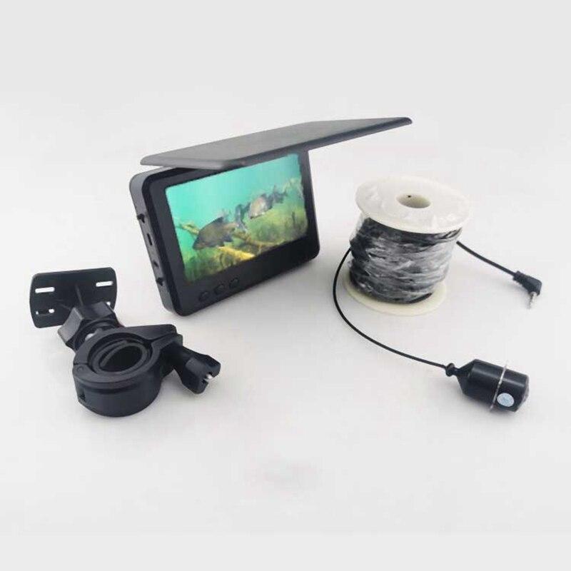 4,3 Inch Unterwasser Fisch Finder Angeln Kamera Wasserdicht Echt-Zeit IR Nacht Vision Fishfinder mit 30M Kabel