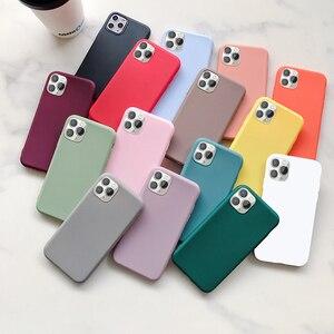 Тонкий мягкий силиконовый чехол для iPhone Pro XS Max XR X 10 8 7 6 6S Plus 7Plus 8Plus 6Plus Модный чехол ярких цветов для пар