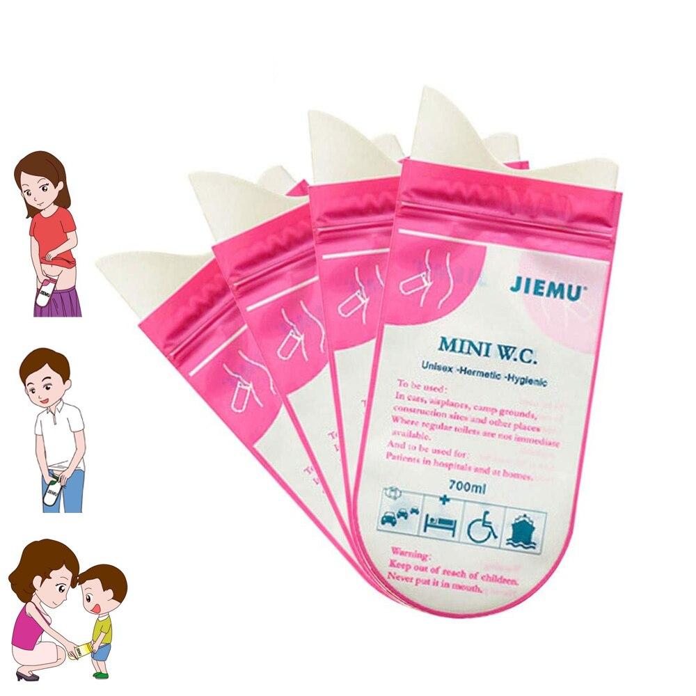 4pcs 700ml Emergency Portable Car Urine Bag Vomit Bag Auto Mini Mobile Toilet Disposable Handy Unisex Kids Using Outdoor