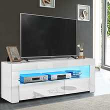 Unit-Bracket Cabinet Tv-Stand Living-Room-Furniture Modern with LED Drawers 47inch