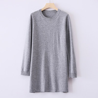 2019 WOMEN'S Dress Autumn And Winter New Style Knitted Woollen Sweater 100 Pure Wool Long Crew Neck WOMEN'S Sweater Pullover Bas