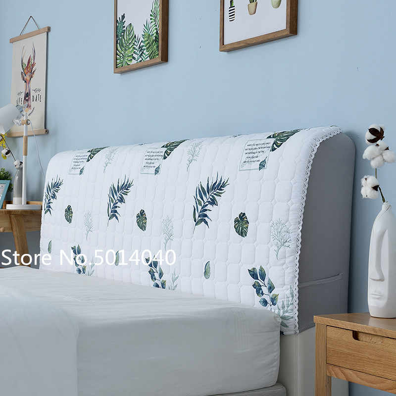 Nordic cotton Bed Cover 120-220cm All Inclusive Fabric Comforters Dust Proof Elastic Bed Headboard Cover Protective Cover