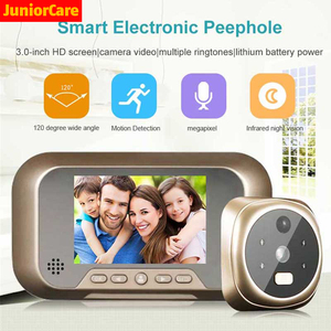 Smart Electronic peephole Digital home Camera Doorbell Peephole Viewer video night vision 120 degree smart Outdoor Door Bell(China)