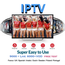 IPTV M3U Subscription 9000+ live Italia Brasil Arabic Poland Portugal Belgium IP TV Code for smart Box