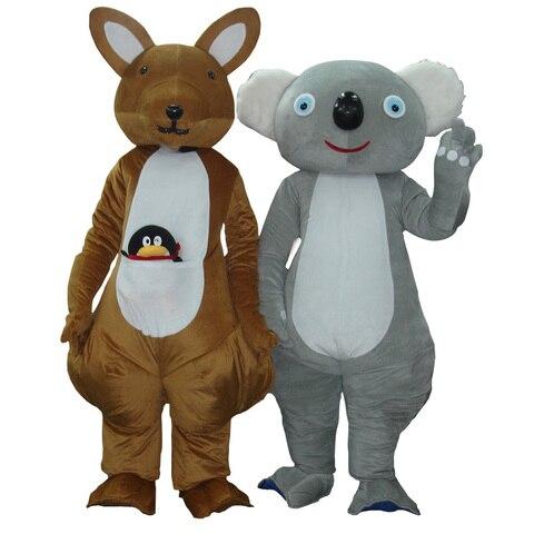 tml cosplay canguru e coala mascote traje personagem dos desenhos animados traje de publicidade