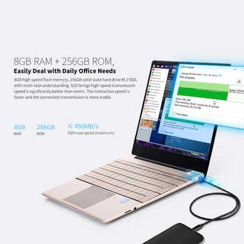 K2 All metal 14.1 inch IPS Screen 8GB RAM 128GB 256GB SSD Fingerprint Notebbok Full Size backlit laptop Windows 10 Office Game