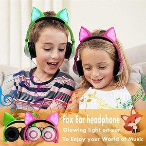 Image 5 - LIMSON kablolu sevimli hayvan tilki kedi kulak kulaklık katlanabilir yetiştirme çocuk kulaklıklar hediye erkek ve kız için