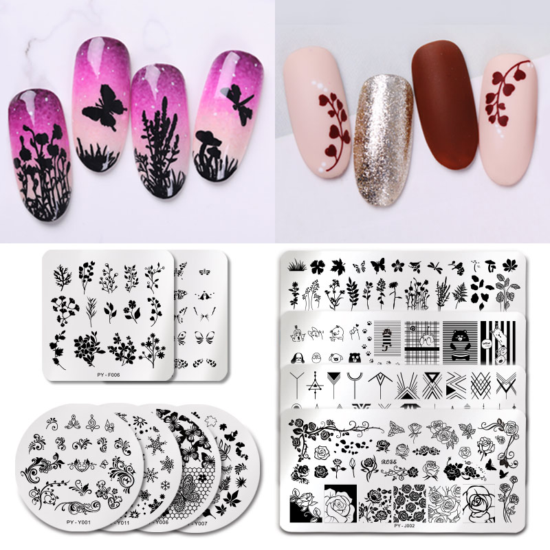 PICT YOU Nail Stamping Plates Snow Winter Nail Art Stamp Template Idea Nail Image Plate Stainless Steel Stencil Tools