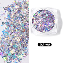 3D Holographic Laser Glitter Nail Flakes Mermaid Sequins Art Decorations Spangles Decor Tips Sparkly Paillette
