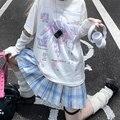 E Girl Anime Tshirt Clothes Fashion Graphic Top Sailor Moon Harajuku Kawaii Summer Tops for Women 2021 Cartoon