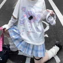 E menina anime tshirt roupas moda gráfico topo marinheiro lua harajuku kawaii verão topos para as mulheres 2021 dos desenhos animados