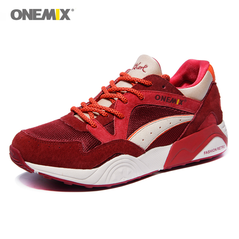 ONEMIX New Hot Style Retro Trend Men's Running Shoes For Women Breathable Walking Outdoor Sport Sneakers Free Shipping 39-45