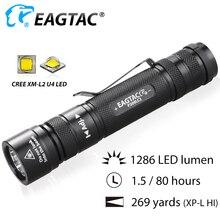 EAGTAC P200LC2 XML2 1286lm LED Flashlight 18650 CR23A Batter