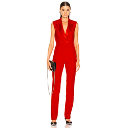 ADYCE 2020 New Summer Red Sleeveless Celebrity Evening Party Jumpsuit Rompers Sexy V Neck Tank Fashion Club Long Jumpsuit