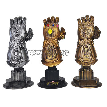 26CM Avengers Thanos Arms Infinity Gauntlet Figurine Dolls Toys Resin Statue Bust Action Figure Collectible Model Toy Gift