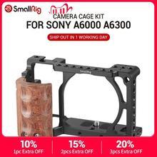Smallrig ため sony a6000 ソニー A6300 / A6000 / ILCE 6000 / ILCE 6300 ケージワット/木製ハンドルデュアルカメラリグ 2082
