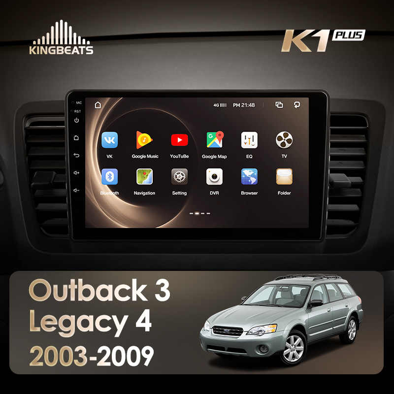 KingBeats Android 8.1 Octa-Core head unit 4G in Dash Car Radio Multimedia Video Player Navigation GPS For Subaru Outback 3 Legac