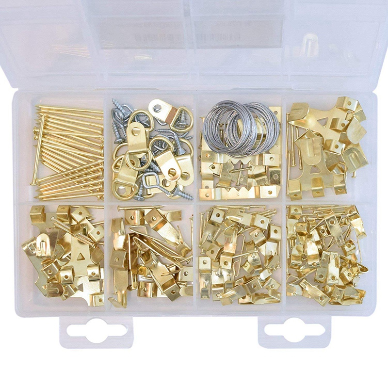 Picture Hangers,Painting Hanging Kit Picture Suspension Kit 220 Pieces Heavy Duty Multicolor Picture Hook With Screws For Hangin