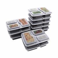 10 kunststoff Mehrweg Mittagessen Boxen  Mahlzeiten  Lebensmittel  Mittagessen Boxen  3 Reusable Mikrowelle Container  haushalt Mittagessen Boxen-in Lunchboxen aus Heim und Garten bei