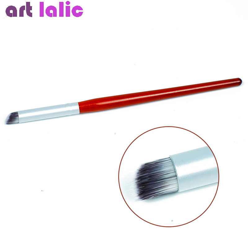 1PC Nail Art Brush Gradient Dye Drawing Painting Gradual Brushes Pen Blooming Color For UV Gel Manicure DIY Tool Wood Handle