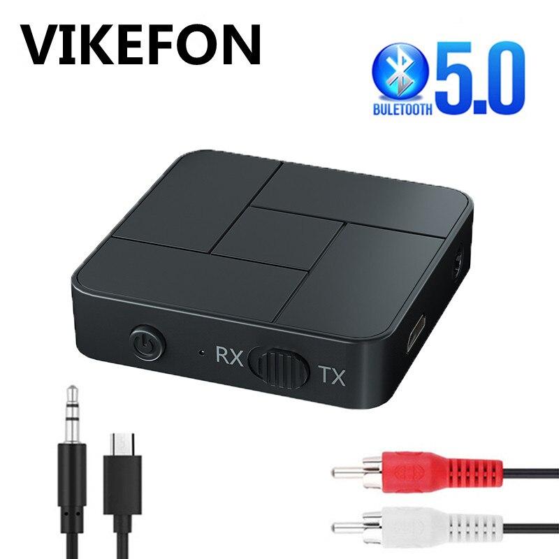 Bluetooth 5,0 приемник передатчик 3,5 мм 3,5 AUX разъем RCA USB ключ беспроводной аудио адаптер громкой связи вызов для автомобиля ТВ ПК динамик