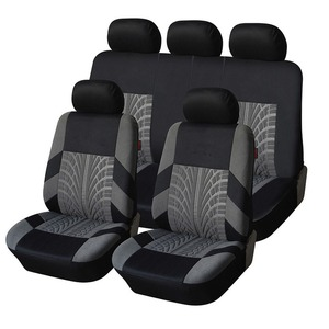 Image 1 - רקמה אוניברסלית רכב מושב מכסה סט Fit ביותר מכוניות מכסה עם צמיג מסלול פירוט סטיילינג רכב מושב מגן אביזרי רכב