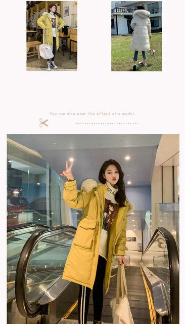-30 Degrees Winter Women Long Parkas Jackets Plus Size M-5XL Thick Warm Big Fur Collar Female Slim Sintepon Parkas Outwear Coat 14