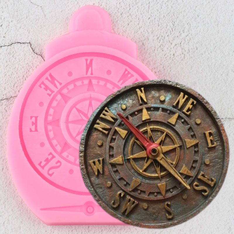Antique Compass Border Silicone Mold DIY Cake Decorating Tools Cupcake Topper Fondant Molds Candy Clay Chocolate Gumpaste Moulds