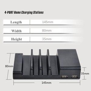 Image 5 - 멀티 4 포트 USB 충전 도크 범용 데스크탑 빠른 충전 주최자 여행 벽 충전기 스테이션 전원 어댑터 EU/US/UK/ Plug