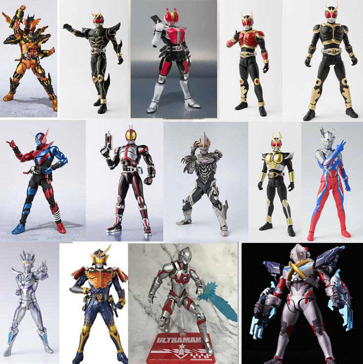 Shf Anime Ultraman Masked Rider Kamen Rider Gelede Collection Action Figure Model Speelgoed
