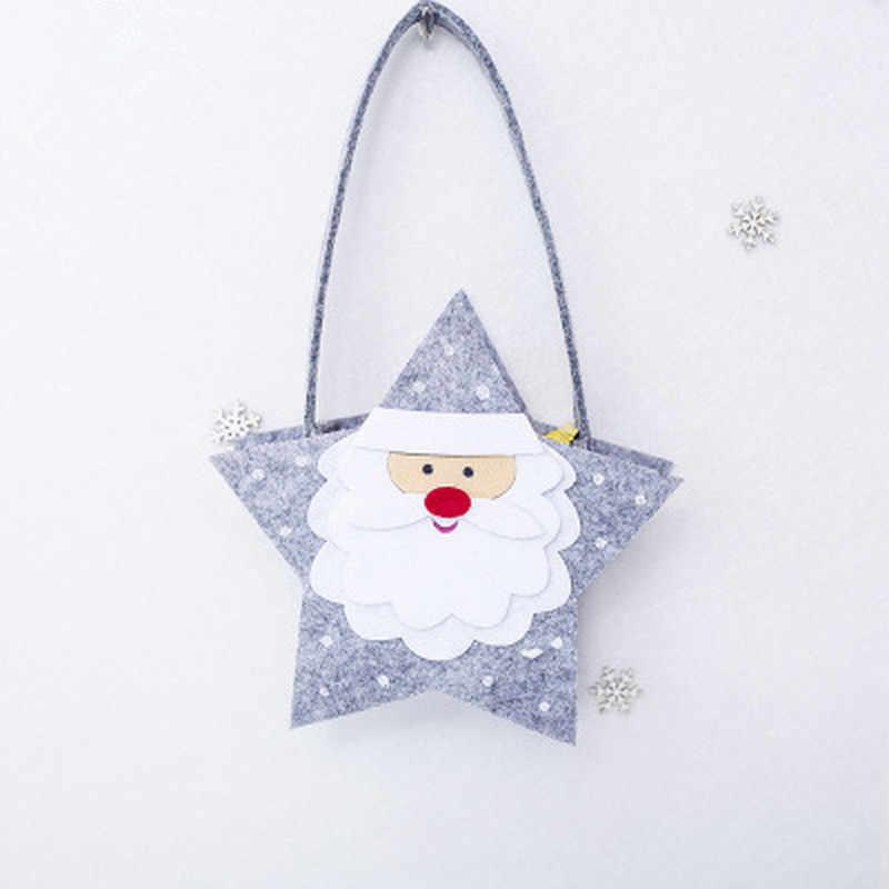 Рождественские подарочные сумки для конфет, вечерние нетканые мини сумки с ручкой для детей и взрослых, сумки для покупок, оптовая продажа