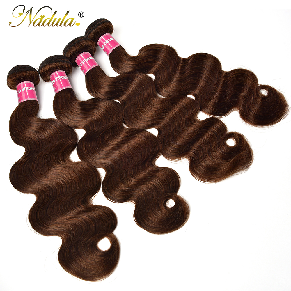 #4 Color Body Wave Hair 1/3/4 Bundles    Body  Bundles Double Weft 28 30 inch 5