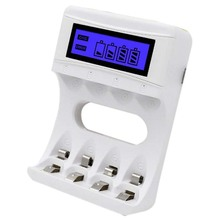 4 Slots Lcd Screen Usb Battery Charger For Rechargeable Aa/Aaa/Ni-Cd/Ni-Mh