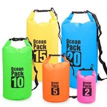 30L Swim Bag Outdoor Waterproof Bag PVC Coated Mesh Fabric Waterproof Bucket Bag Drifting Bucket Bag Waterproof Bucket Bag