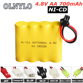 Ni-CD 4.8V 700mAh AA Rechargeable Battery Pack For Remote Control Toys Electric Car Nicd 4.8 V Volt Bateria SM-2P/JST/EL-2P Plug image