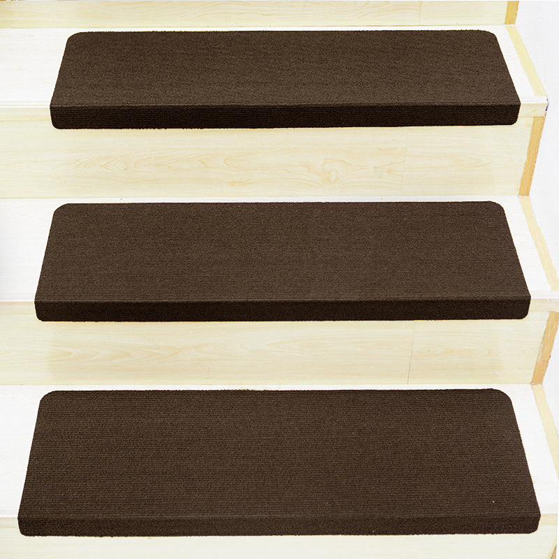 4 Color Non-slip Carpet Stair Tread Mats Staircase Step Rug Protection Cover