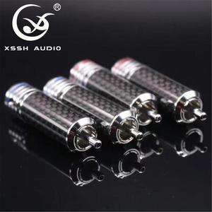 Image 3 - 4Pcs/8Pcs/16Pcs Xssh Audio Rca Diy Hifi Koolstofvezel Rca Plug 10Mm Coaxiale digitale Audio Signaal Kabel Plug Jack Connector